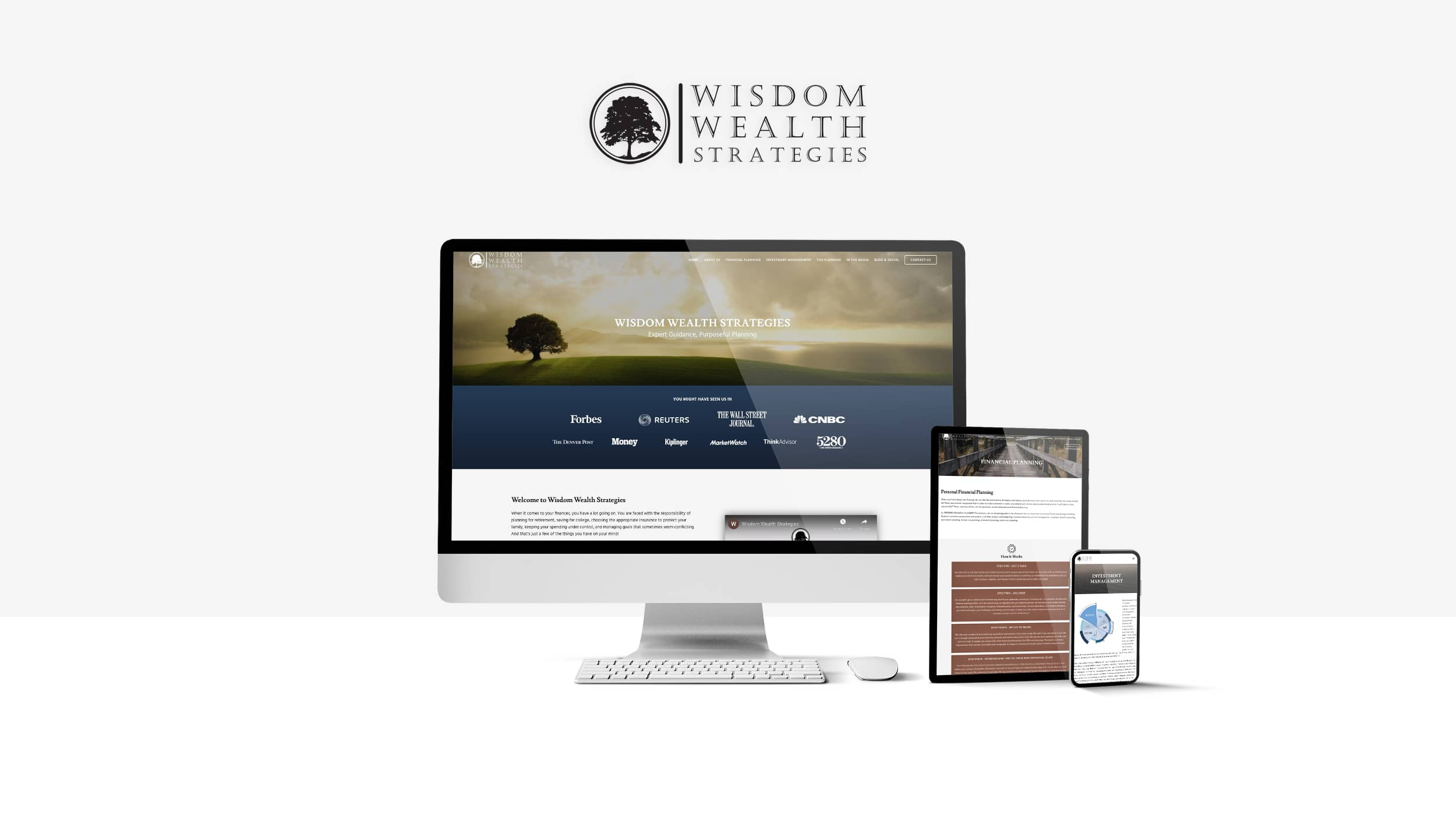 Wisdom Wealth Strategies Website on different device sizes