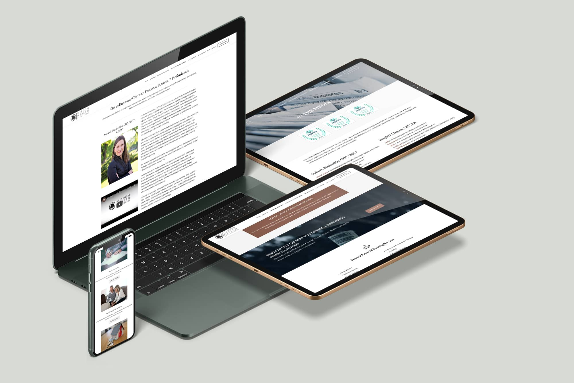 Wisdom Wealth Strategies Website on all devices