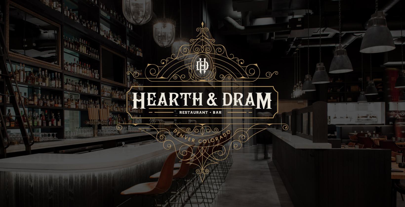 Hearth & Dram Logo Design