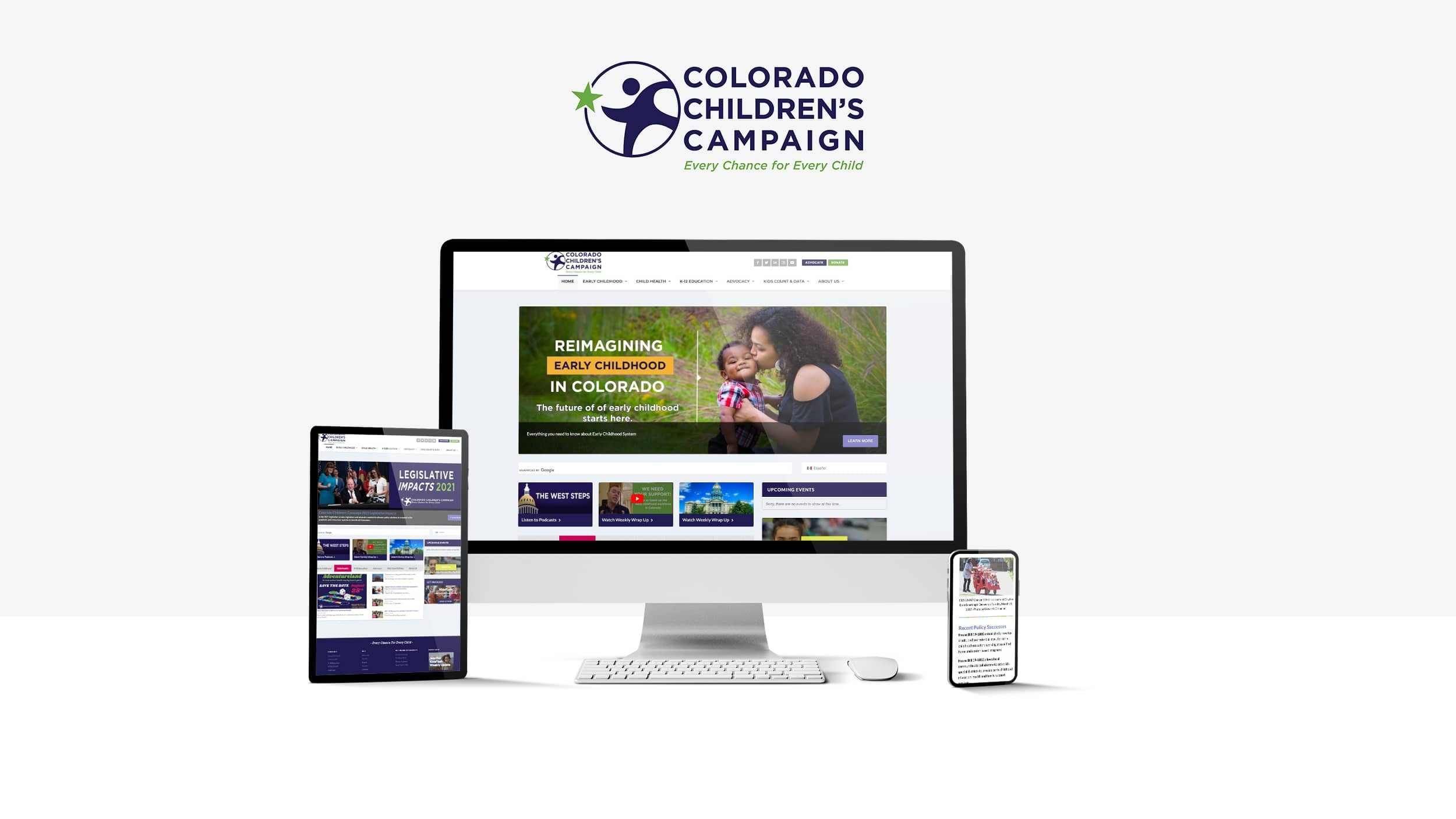 Colorado Children's Campaign website on all device sizes