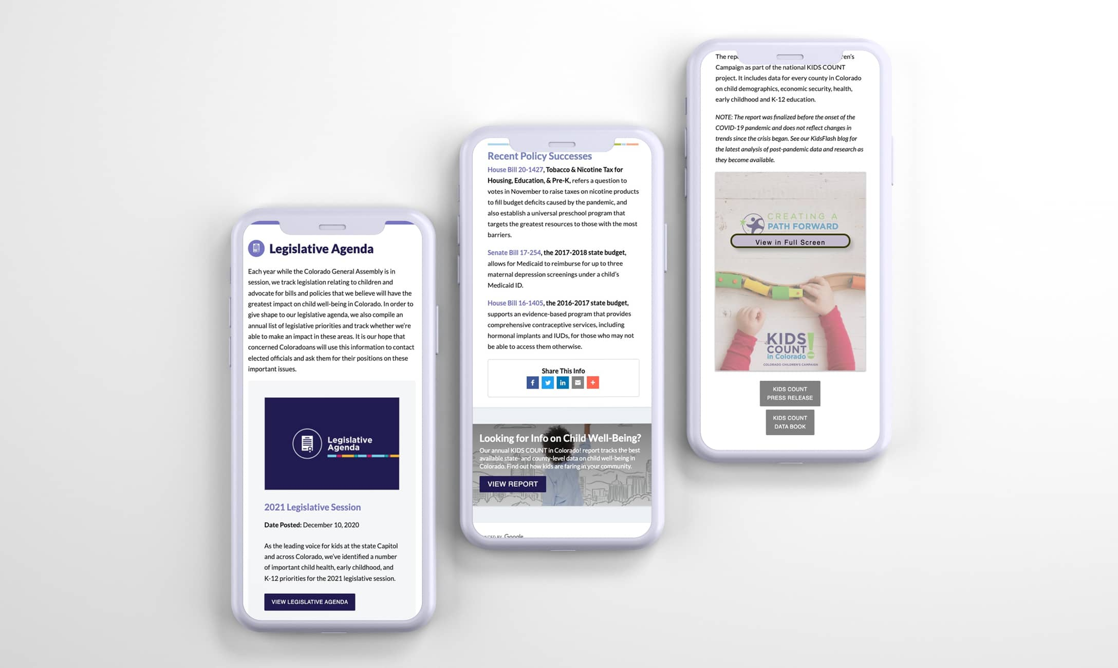 Colorado-Childrens-Campaign-Portfolio-on-mobile-phones